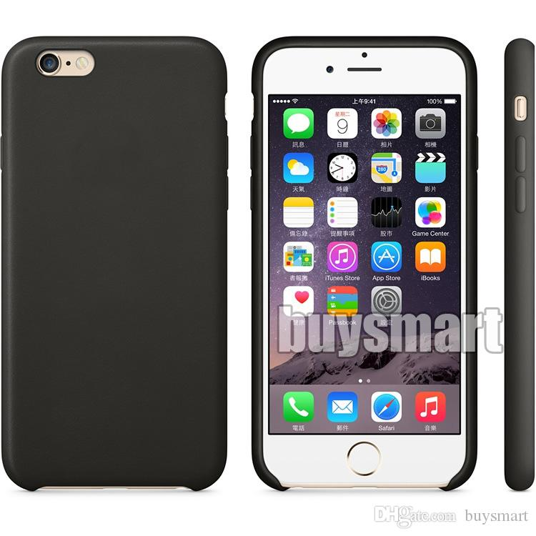 Funda oficial original para Apple iPhone XS Max XR X 8 Plus 7 6 6S 5 5S Cubierta de lujo Tener OEM Atrás LOGO PU Fundas de teléfono de cuero mate mate