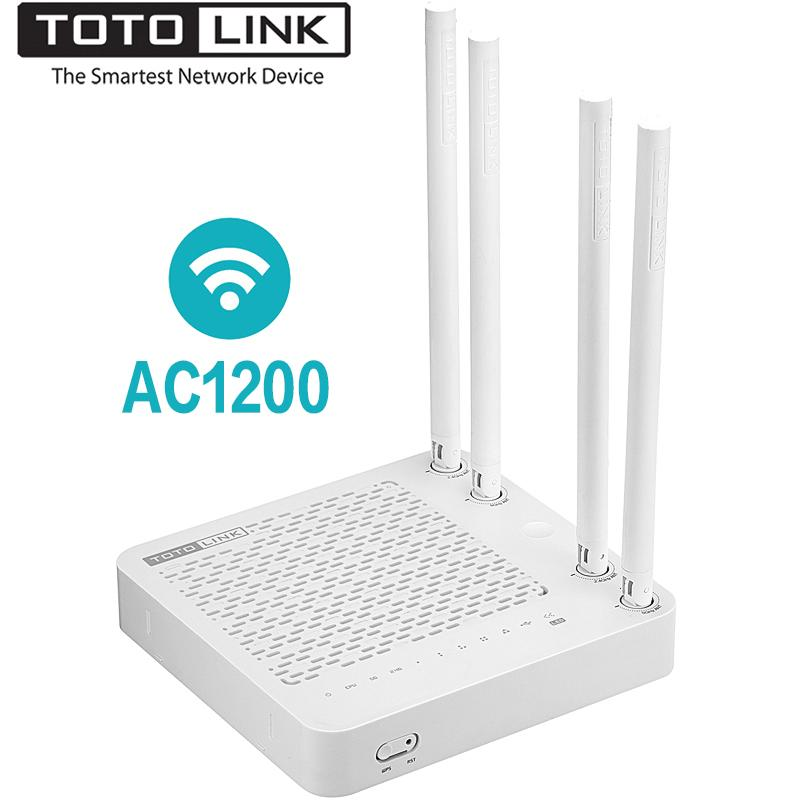 TOTOLINK A702R AC1200 Smart Dual Band Gigabit Wireless WiFi Router / Wi-Fi  , Mutil SSID, IPTV, VPN, English Firmware