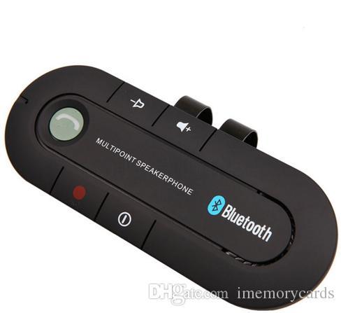 뜨거운 판매 무선 블루투스 핸즈프리 자동차 키트 MP3 음악 플레이어 슈퍼 스피커 폰 안드로이드 4.1 휴대 전화 듀얼 전화에 연결