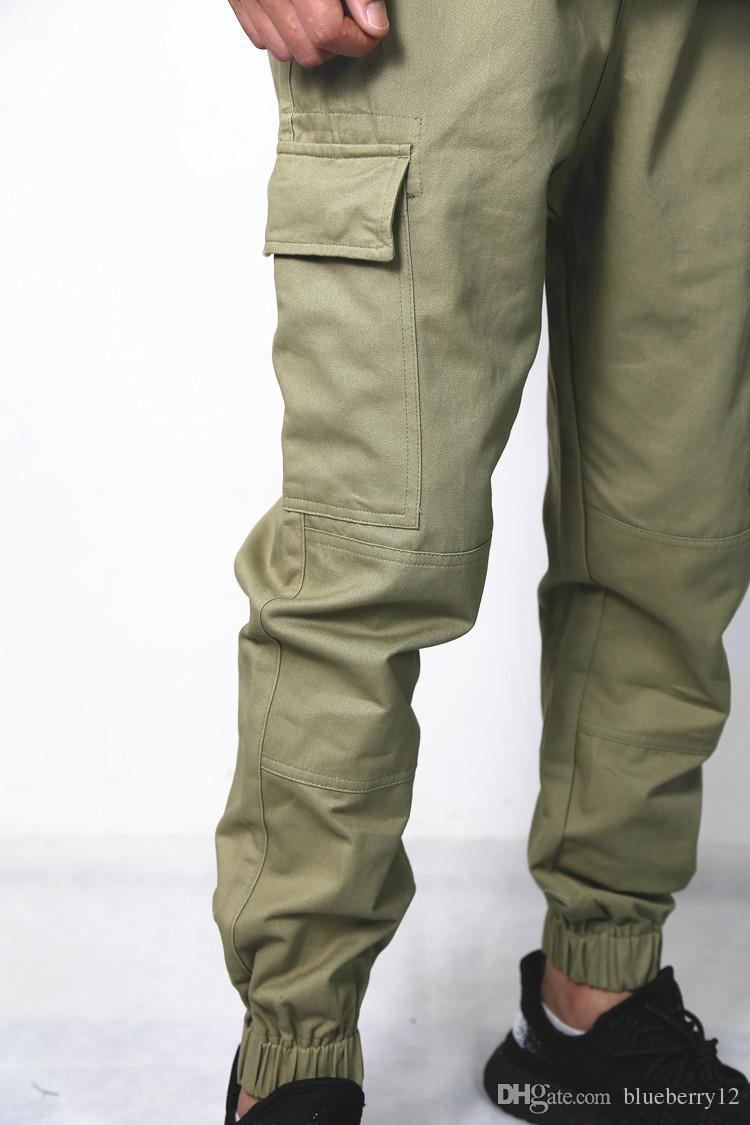 00edd711 2019 Kanye High Street Cargo Pants Causal Joggers With Side Pockets Elastic  Openning Jogging Pants From Blueberry12, $58.48 | DHgate.Com