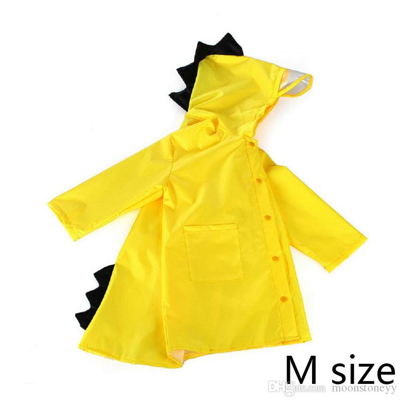 8fd73aca337 Newest Cute Small Dinosaur Waterproof Polyester Rain Coat Boy Children  Girls Windproof Poncho Kindergarten Student Baby Raincoat Crochet Kids  Poncho ...