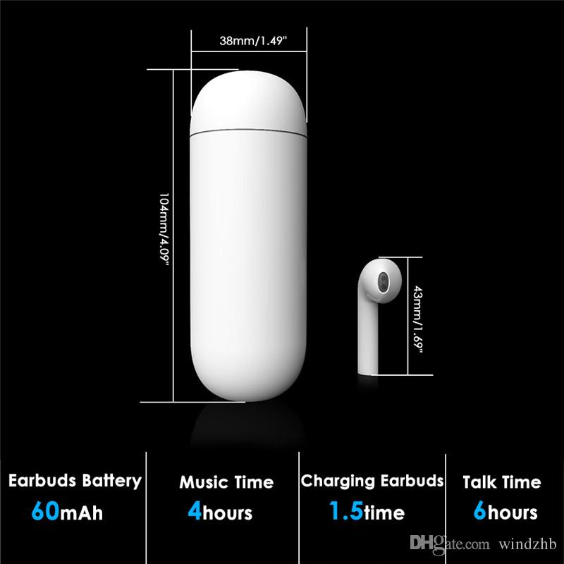 HBQ I9 Bluetooth Earphone Mini Single Wireless Headset with Charging Box Power Bank External Battery For Android IOS Smart Phone not HBQ i7