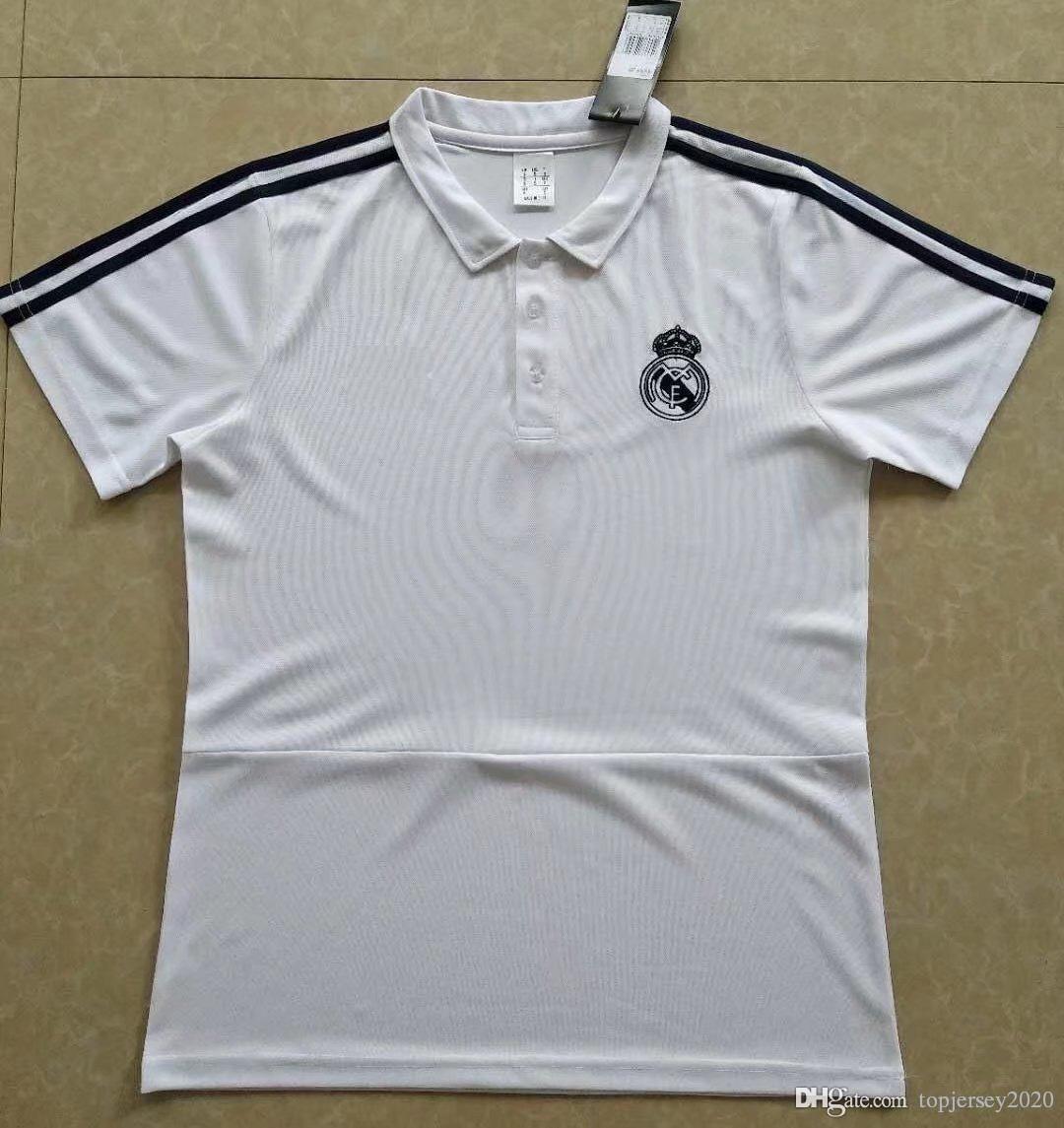Thai 18 19 Real Madrid POLO Camisa Ronaldo Soccer Kit 2018 2019 Jerseys De  Fútbol Madrid Real KROOS ASENSIO Jersey De Entrenamiento Por Topjersey2020 5f08e5a7fb8d7
