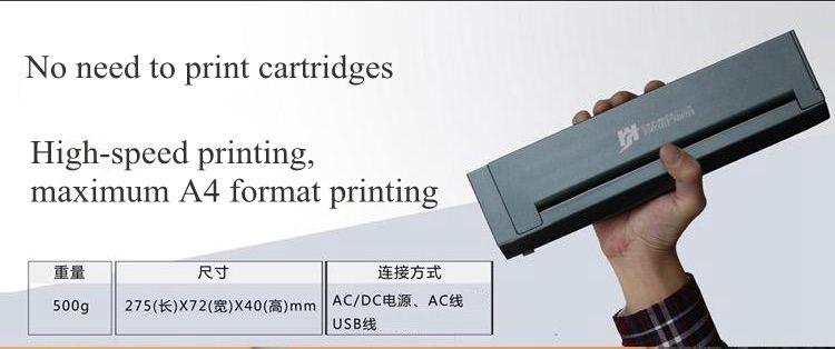 미니 작은 휴대용 모바일 문신 전화 노트북 무선 자동차 열 블루투스 프린터 A4 열전 사 프린터 열 전송 인쇄 문신 프린터