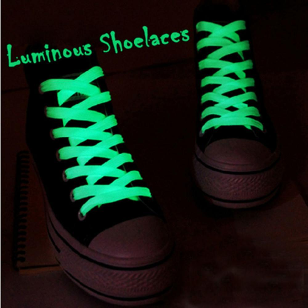 a962b19c19fe 2019 80cm Sport Luminous Shoelace Glow In The Dark Night Color Fluorescent  Shoelace Athletic Sport Flat Shoe Laces Hot Selling From Ajshoesfactory