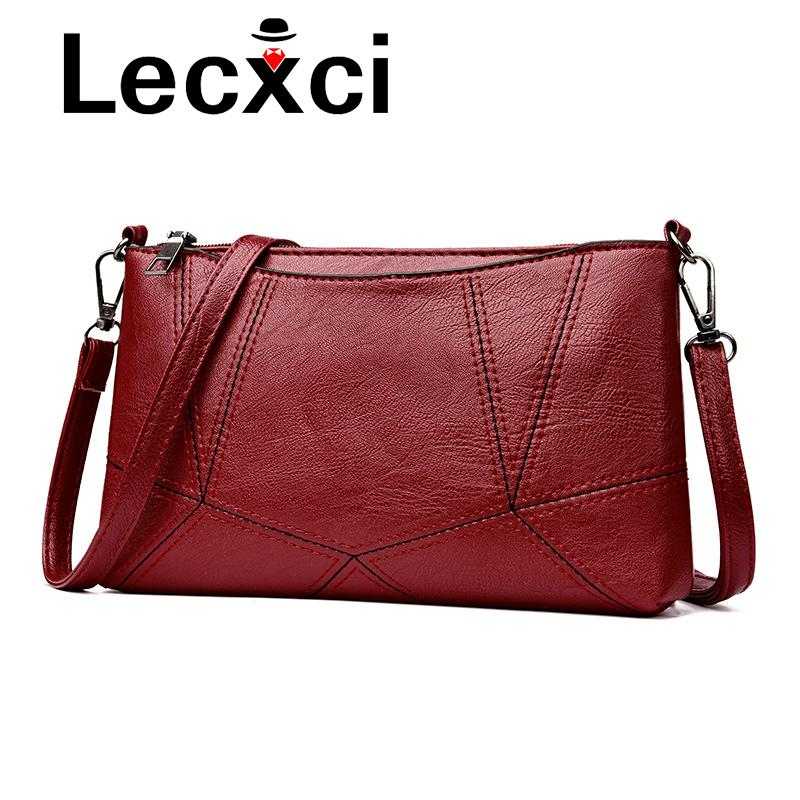 89e9715adf 2018 New Crossbody Bags For Women Zipper Opening Small Square Soft Bag  Ladies  PU Leather Fabric Handbag Shoulder Bag Y18102604 Black Handbags  Handbags ...