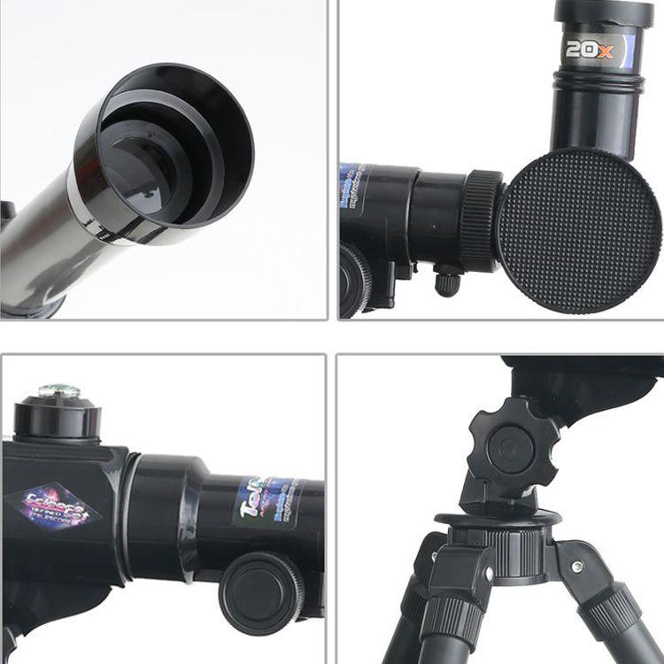 Pusula ile 20X ~ 40X Çocuk Astronomik Tripod Teleskop Arama Yıldız Ay Gözlenen Evren Laboratuar Cihazları Bilim Eğitici Çocuk Oyuncakları