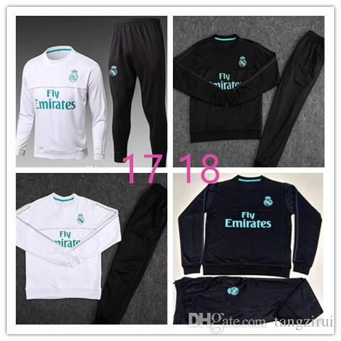 eac1a3a61 TOP THAI QUALITY New 17-18 Real Madrid Men s Soccer Chandal White ...