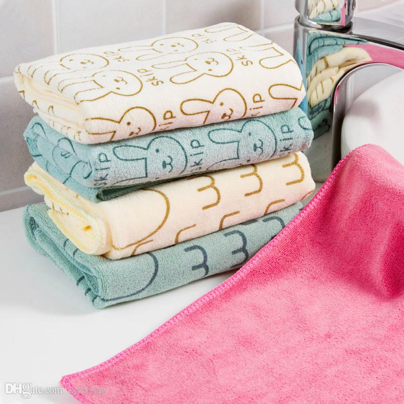 No Hair Absorbent Face Washing Towel Adult Dry Hair Towel Household Bath Towel Children's Small Square Towels