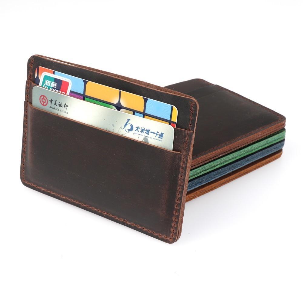 2018 New Arrivals Men Credit Id Card Holders Vintage Design Crazy ...