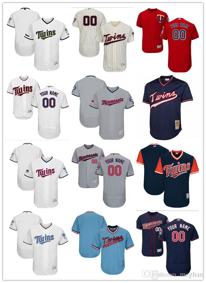 d8cdf3ccbd8 2019 Twins Jersey Men Women Youth Majestic Custom Personalized #00 Any Name  And Number Home Red White Kids Girls Twins Baseball Jerseys From Lauer, ...