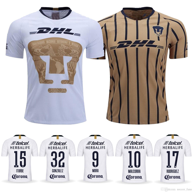 best website f78d8 78fdb 2018 UNAM Jersey 18 19 Home Away ITURBE GONZALEZ MALCORRA MORA RODRIGUEZ  Club Universidad Nacional Futbol Camisa Customized Thailand Quality