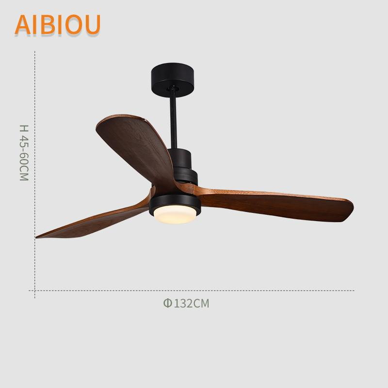 Aibiou 52 inch led ceiling fan with lights remote control 220v aibiou 52 inch led ceiling fan with lights remote control 220v ceiling fans for living room dining room wood fan lighting led ceiling fans ceiling fans with aloadofball Images