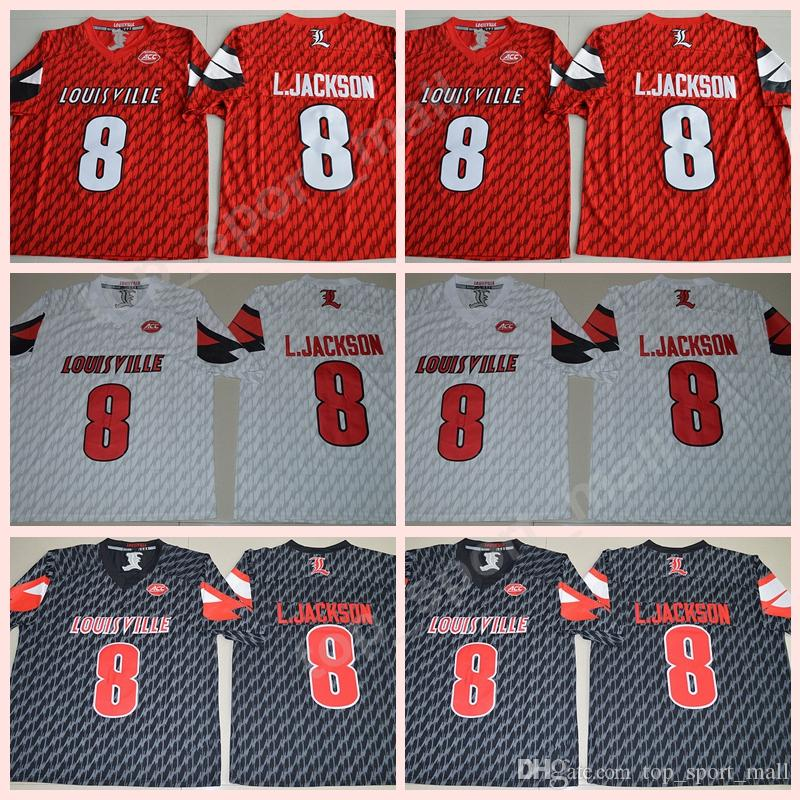 wholesale dealer 51fae 7a1f2 NCAA College 8 Lamar Johnson Jersey Men Football Louisville Cardinals  Jerseys ACC University Stitched Red Black White High Sale Size S-XXXL