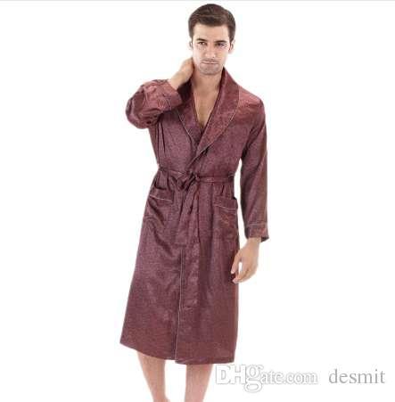 Longues De Vêtements Nuit Hommes Chambre Pour Robe Manches