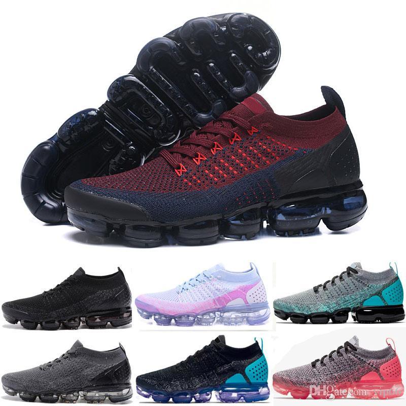 info for df6aa 9730c Acheter 2018 Air Cushion Running Chaussures Hommes Femmes Classique En Plein  Air Noir Blanc Sport Shock Jogging Marche Randonnée Entraîneur Athlétique  ...