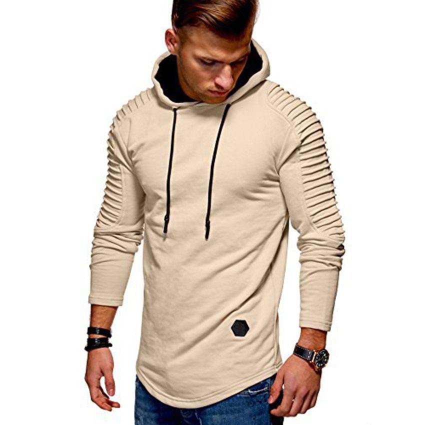 be2bd3e30d4 Men s Striped Solid Swag Stylish Hoodies Streetwear Slim Skinny Men ...