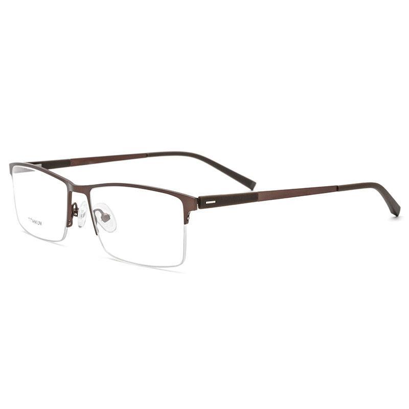 946ed1e742 2019 EOOUOOE Titanium Men Opticas Glasses Semi Rimless Eyewear Frame Gafas  Oculos De Sol Goggles Men s Glasses Classic Eyeglasses From Exyingtao
