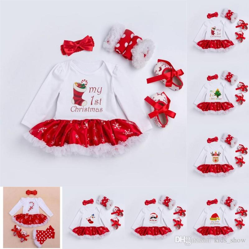 my 1st first christmas outfits clothes toddler suits baby girl christmas clothing sets for bebes kids christmas romper dress sets my 1st first christmas