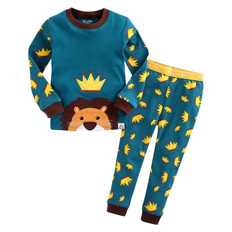 88d093e6f Spring Winter Kids Cartoon Pajamas Sets For Boys Girls Monster ...