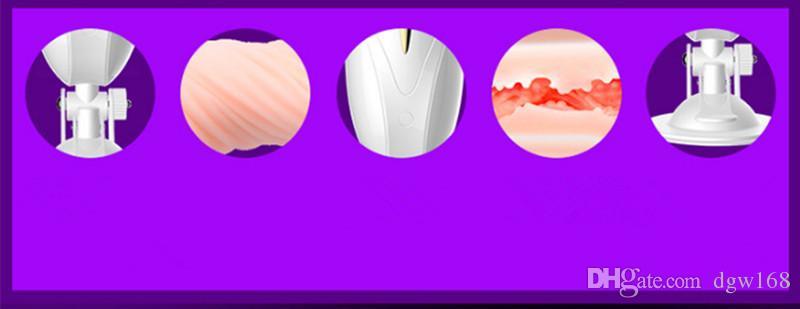 7 modi forte pronuncia vibratore Hands Free maschio tazza masturbazione, figa tascabile vagina artificiale, giocattoli del sesso masturbatore vibrante