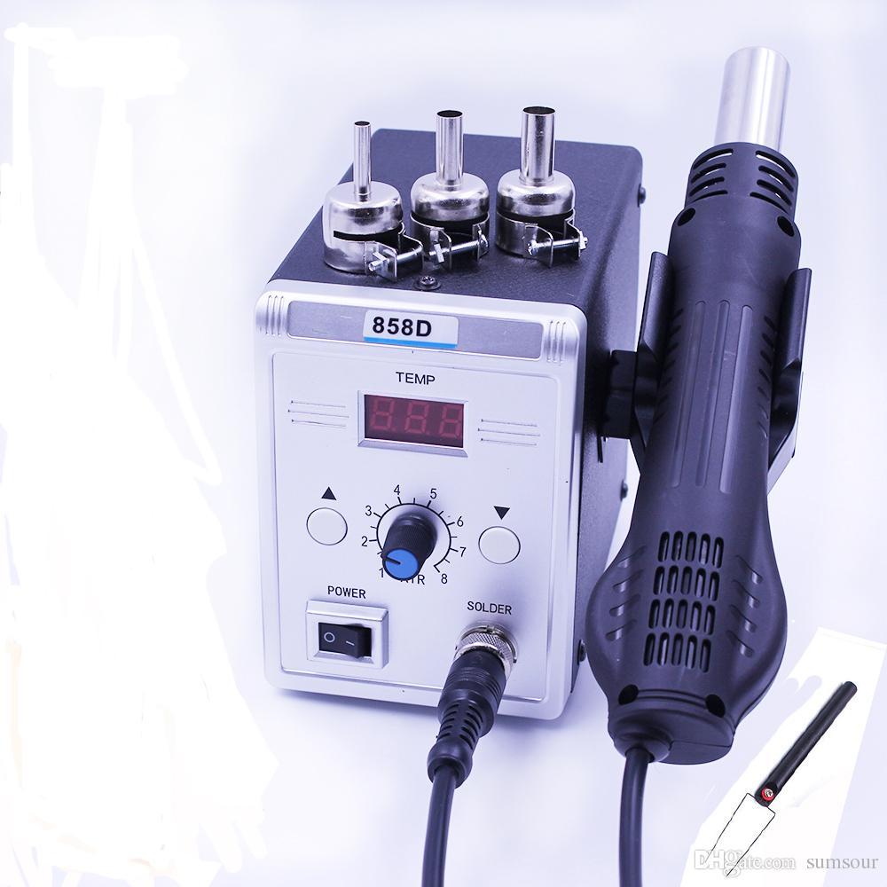 Yeni Sıcak Hava Tabancası 858D 700 W BGA Rework Lehim Istasyonu Lehim Isı Hava Tabancası Istasyonu 220 V / 110 V Için SMD SMT Kaynak Onarım