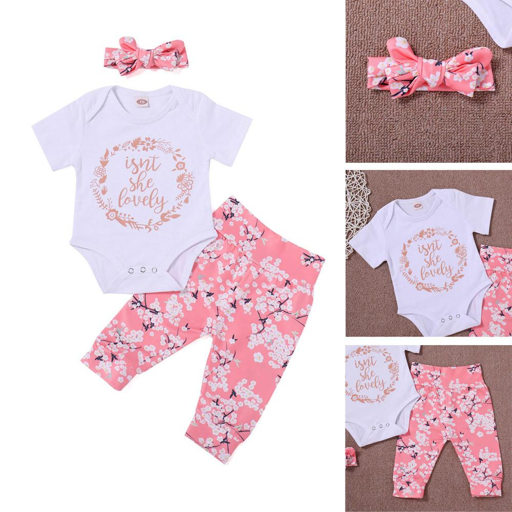 d23309a1193b Girls Suits 2018 New Summer Style Beautiful Floral Flower Sleeve ...