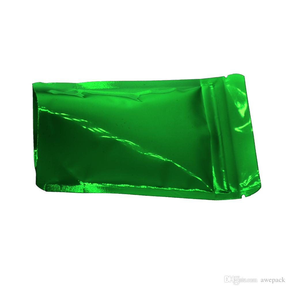 8.5 * 13cm Verde Stand Up Zip blocco mylar sacchetto dell'imballaggio Alimenti secchi polvere di caffè di immagazzinaggio del fagiolo di alluminio dell'imballaggio commercio all'ingrosso del sacchetto