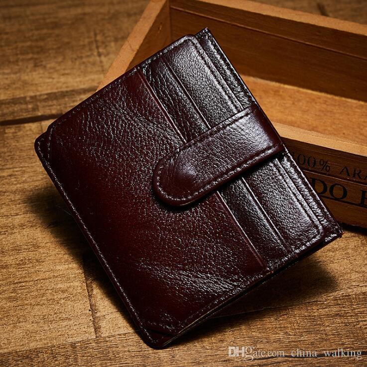 genuine leather wallet unisex credit card holder case business card holders sleeve security travel wallet with id window for man women credit card holder - Best Credit Card Holder