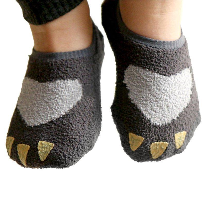 0356d32abf80e Baby Cute Coral Velvet Warmer Ankle Sleep Socks Kids Non-slip Slipper Socks  0-4Y
