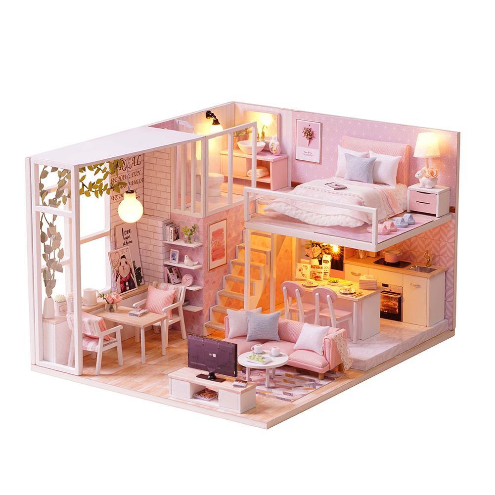 Acquista Mobili Casa Di Bambole Fai Da Te Miniature 3d Miniaturas In
