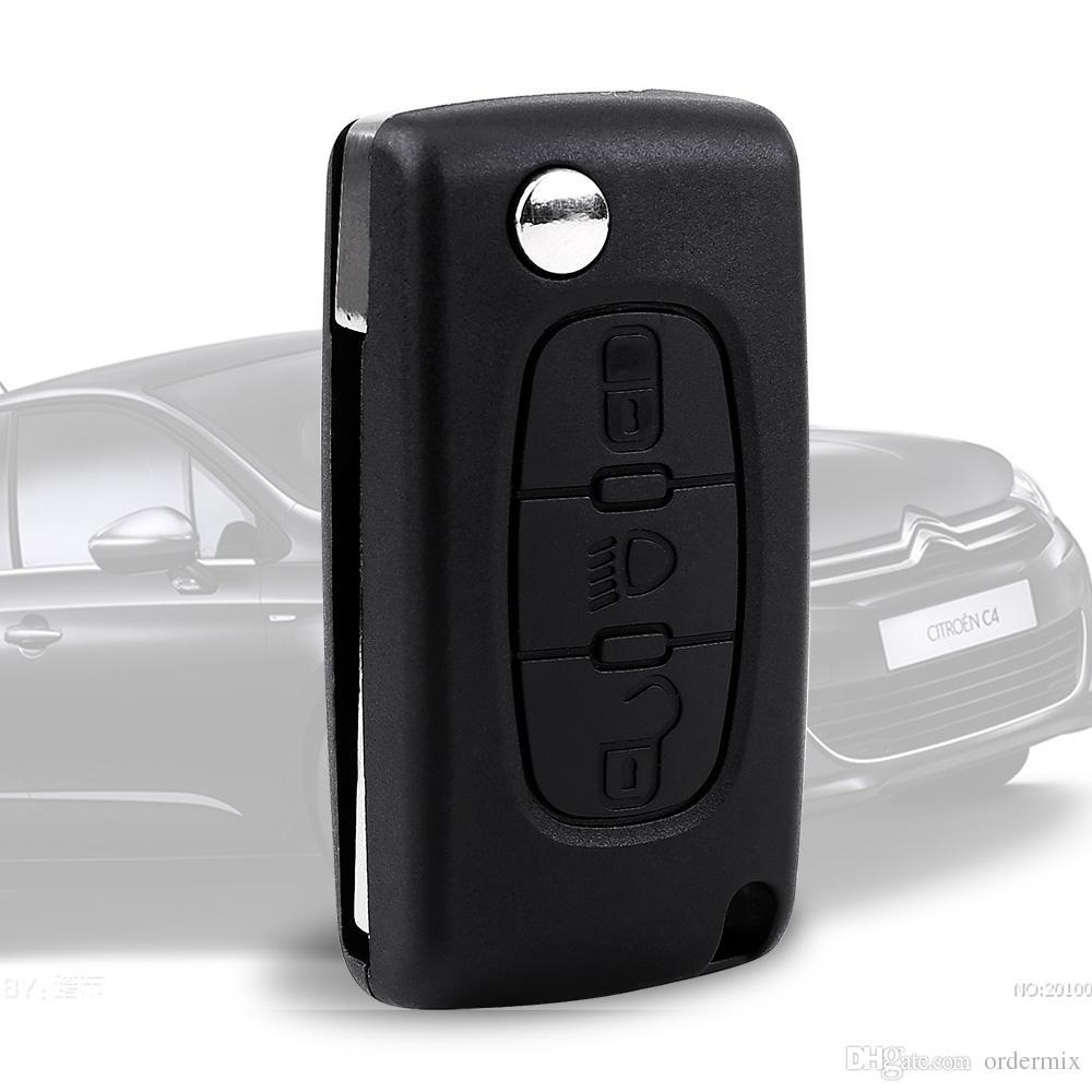 Portable Folding Flip 3 Button Remote Key Case Shell for CITROEN C2 C3 C4 C5 C6 Keyless Entry Fob Case Car Alarm Cover Housing