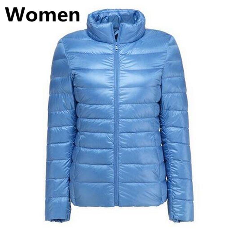 LEFT ROM couples slim Fit 90% White duck down down jacket/Women Men keep warm in winter Super light thin slim Fit Down coat