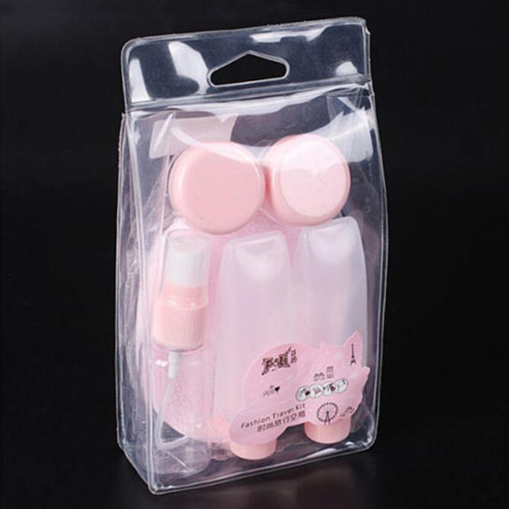 ISKYBOB Portable Travel Set Plastic Transparent MakeUp Perfume Container Bottle in Cosmetic Bags