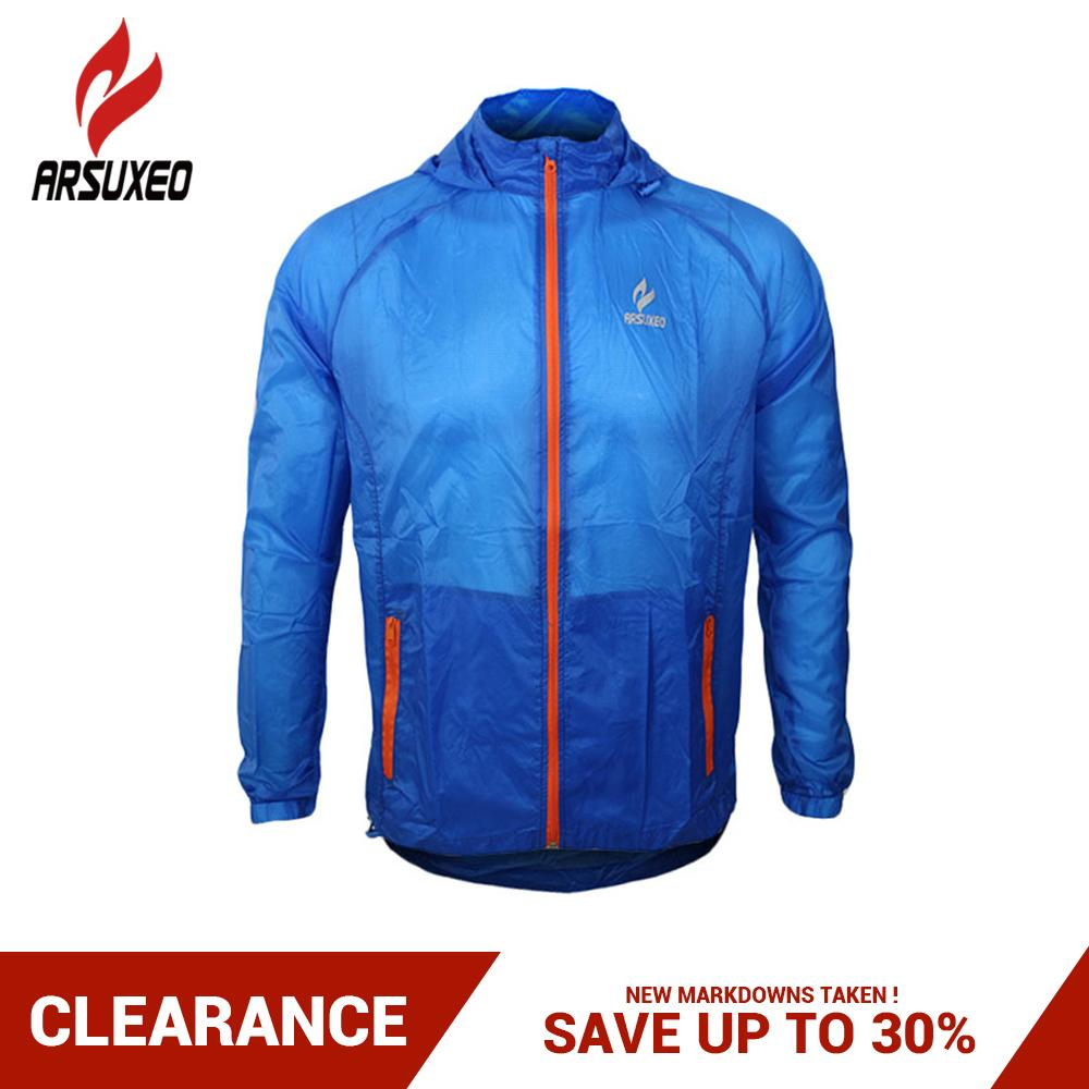 7e7ed12231a2f 2018 ARSUXEO Outdoor Sports Running Cycling Jacket Windproof UV Protection Bike  Bicycle Clothing Breathable Lightweight Skin Jerseys From Portnice