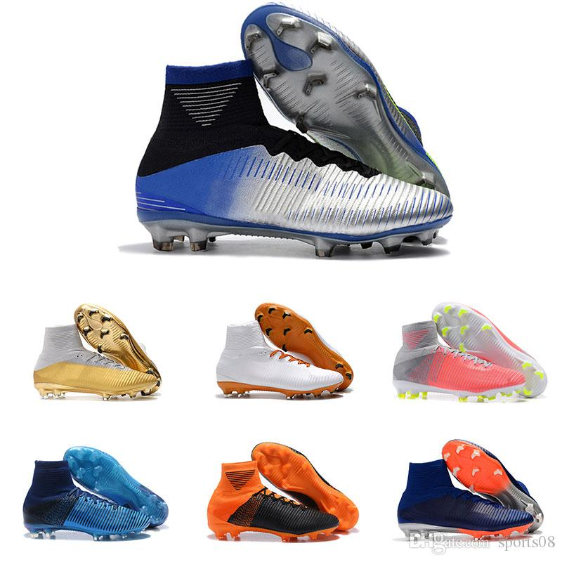 00f6fca21 New Mens Soccer Cleats Mercurial Superfly V SX Neymar FG Soccer ...