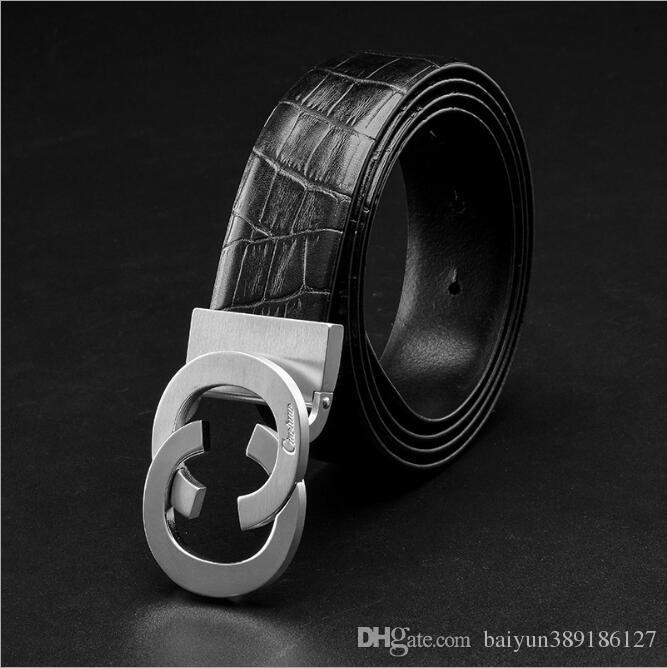 fd4b9d7b1b51 Compre Cinturón De Cuero Genuino Para Hombre Nuevo Ciartuar Cinturones De  Diseño Cinturón Para Hombre Cinturón De Lujo De Alta Calidad Para Hombre  Hebilla ...