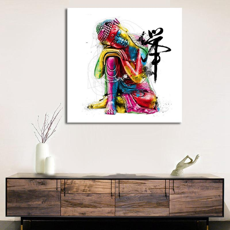 2018 Abstract Buddha Quadros Modern Home Decor Canvas Print Painting ...