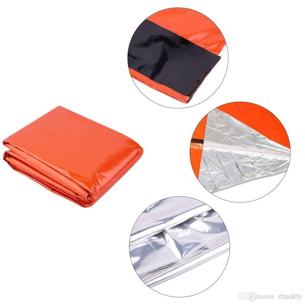 promo code 7dc72 88585 10 teile / los orange outad notfall schlafsack pe beschichtung  wärmereflektierende überlebenssack orange große leichte feuchtigkeitssperre