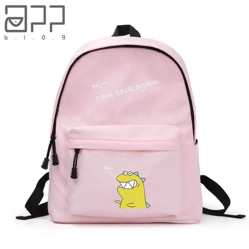 APP BLOG Cute Dinosaur Men Women BackpacSchool Shoulder Bag For Boy Girl Student  Fashion Leisure Backpack 15 Inch Laptop Rucksacks Bookbags From Faaa 623161fec803b