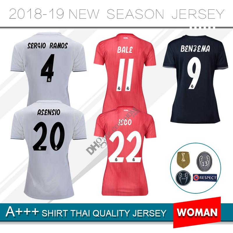 1ea917f62 2019 2019 Real Madrid Soccer Jersey 18 19 Home Away Asensio SERGIO MODRIC  RAMOS MARCELO BALE ISCO Camiseta KROOS 2018 Women Football Shirts From  Homejersey