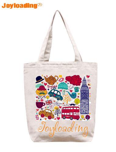 0fde2fa90 Joyloading Home Cartoon UK Tourists Factors Design Reusable Grocery  Shopping Bag Zipper Closure Foldable Tote Bag Large Shopping Bags Cute  Reusable Shopping ...