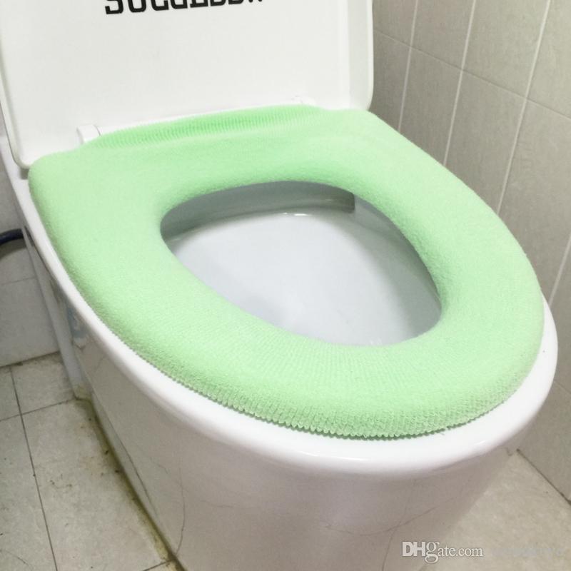Großhandel 1 Stücke Warme Weiche Verdickte Toilettendeckel Sitz