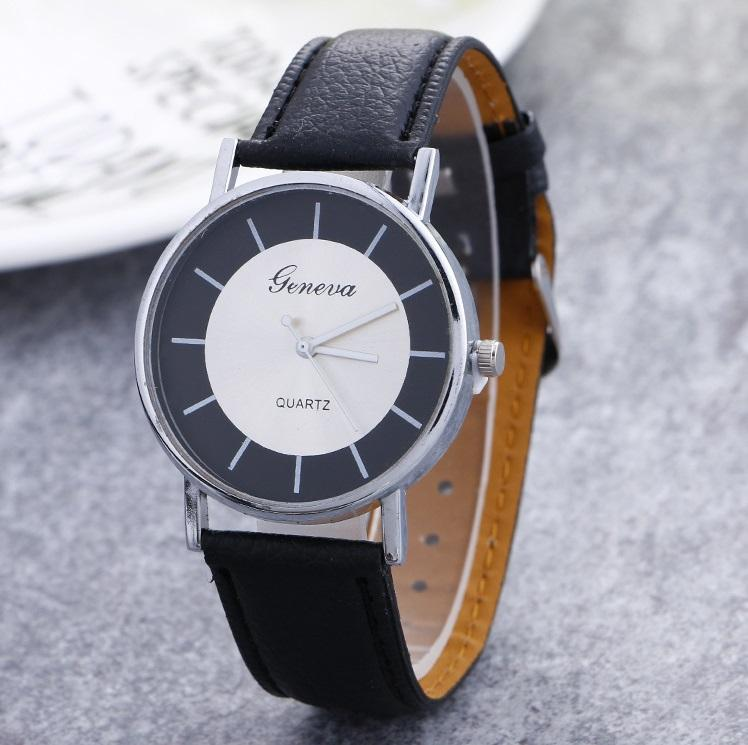 11b594e5c93 Relogio Feminino Women Geneva Watch Casual Sports Clock Quartz Wristwatches  Mens Retro Leather Analog Big Dial Watches Fashion Stainless Steel Geneva  Watch ...