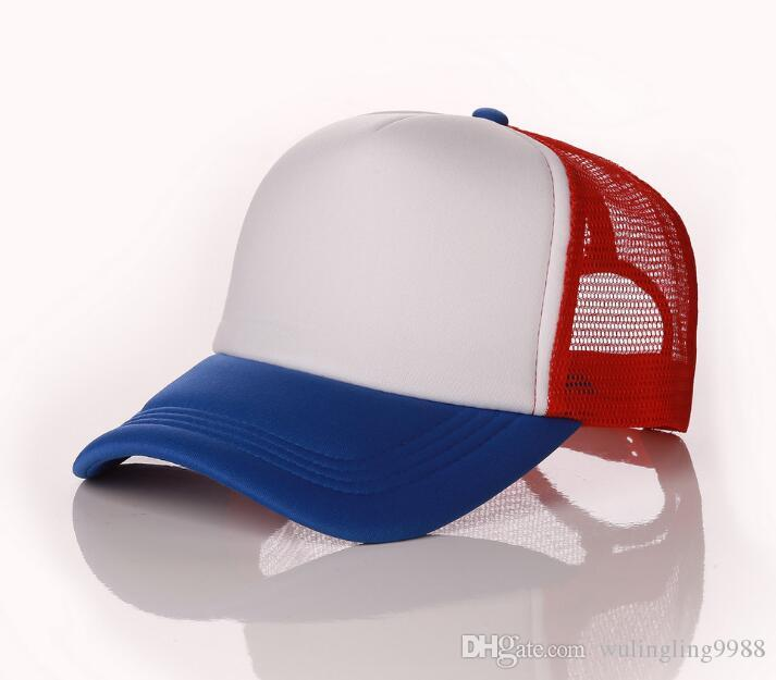 Designer Plain Mesh Baseball Caps For Adults Blank Trucker Cap Custom Logo Color Summer Sports Sun Hats Adjustable Snapbacks Cap