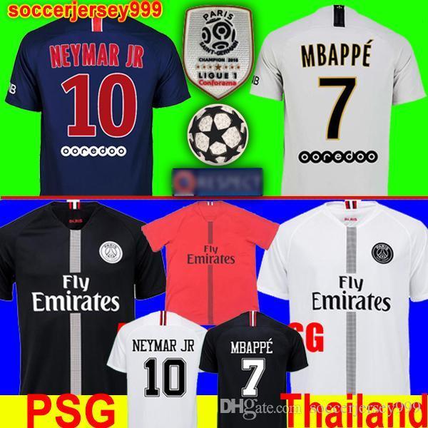 PSG Paris Saint Germain 18 19 Camiseta De Fútbol MBAPPE 2018 2019 Camiseta  De Fútbol CAVANI VERRATTI DI MARIA DI MARIA Uniformes De Maillot De Pie Por  ... f03e7f03ba8f5