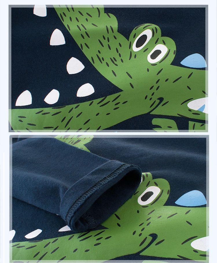 Cartoon Dinosaur Boys Long Sleeve T Shirt For 2-8Years Old Cotton Children Kids Boys Tops Tees T Shirt Spring Autumn BY-111
