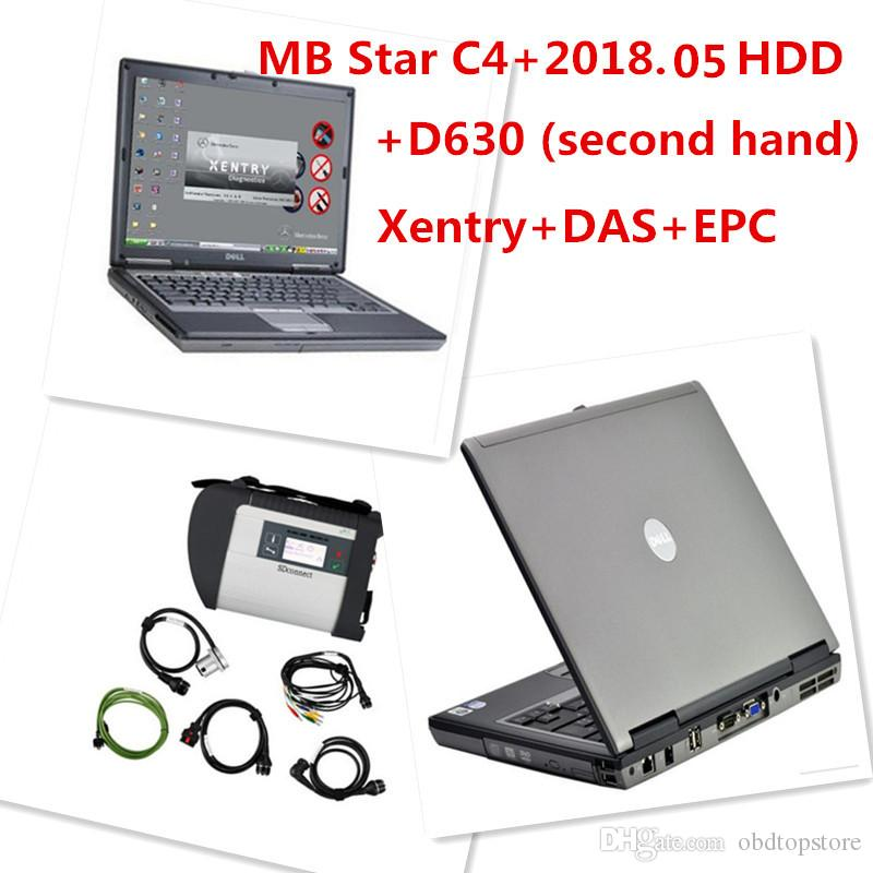 D630 MB Star C4 SD Connect HDD 2018 05 Xentry Diagnostics System Compact 4  Mercedes Diagnosis Multiplexer For Benz Diagnose