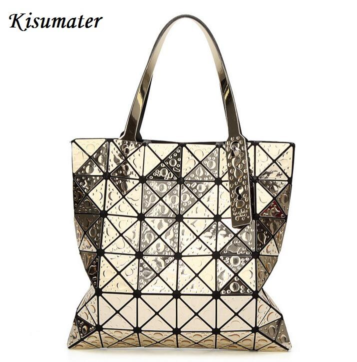 Kisumater 2018 Baobao Bag Women S Geometric Handbag Fashion Drops Of Water  Style Totes Bao Bao Hologram Silver Laptop Bags Briefcase From Allinbag 8b7fcd4bbaf09