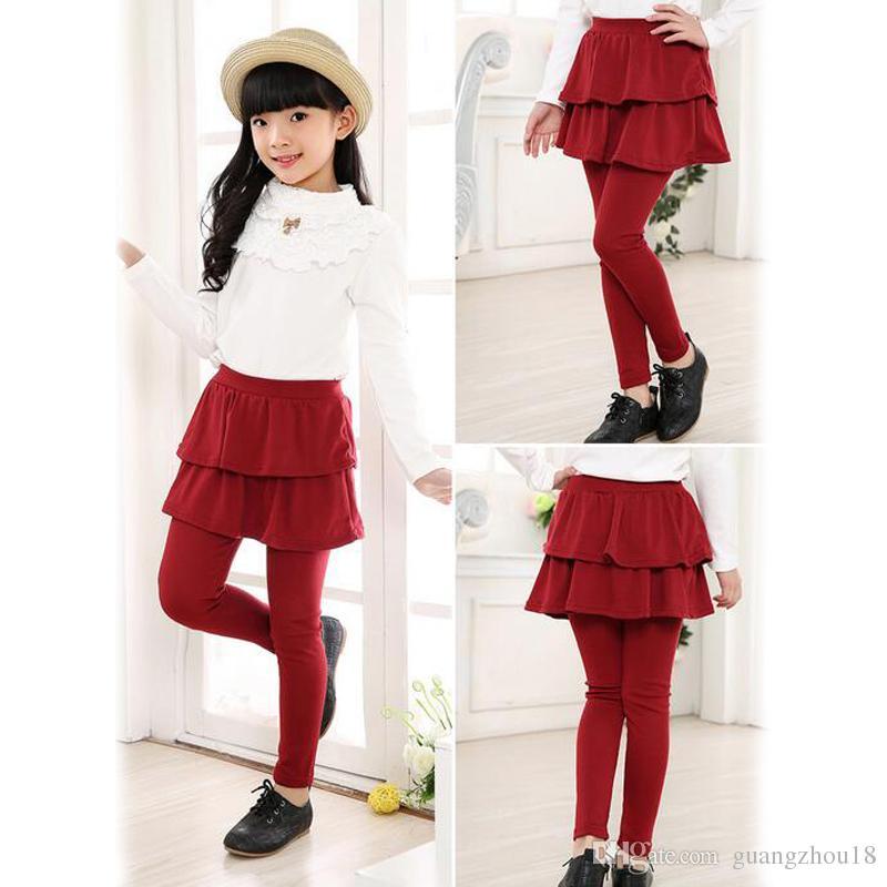4d64e36fb41ff 2019 2018 Girls Skirt Pants Autumn Spring Girls Leggings With Skirt Girls  Clothes Children Kids Trousers Leggings Pants For Girl 40lots From  Guangzhou18, ...